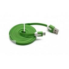Data kabal Light micro USB zelena 2m