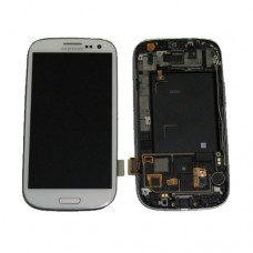 LCD Displej za Samsung I9300 Galaxy S3+touch screen BELI+FRAME