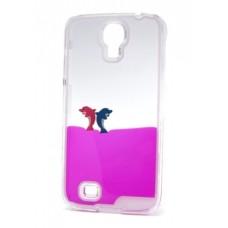 Futrola Float za Samsung I9500 Galaxy S4 Dolphins pink
