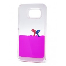 Futrola Float za Samsung G920 Galaxy S6 Dolphins pink