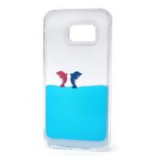 Futrola Float za Samsung G925 Galaxy S6 Edge Dolphins plava