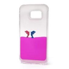Futrola Float za Samsung G925 Galaxy S6 Edge Dolphins pink