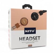 Bluetooth slusalice Nitu-08 zlatne