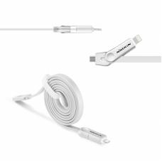 Data kabal Nillkin Plus III za iPhone 5 /iPhone 6 /micro USB sivi 1m