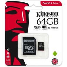 Mem. kartica KINGSTON Micro SD 64GB sa adapterom SDCS2/64GB