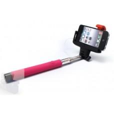 Selfie stick kabal 3.5mm pink