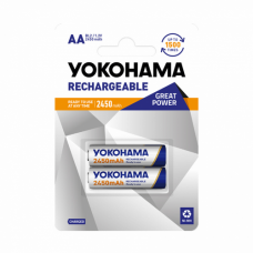 Baterija nikl MH Yokohama 1.2V AA 2450mAh BL2 (punjiva)