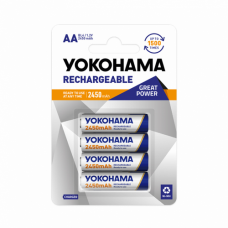 Baterija nikl MH Yokohama 1.2V AA 2450mAh BL4 (punjiva)