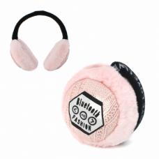 Bluetooth slusalice Earmuff Love roze