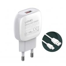 Kucni punjac LDNIO A1306Q QC3.0 sa Type C kablom