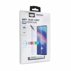 Tempered glass (staklo) Rockymile UV Anti Blue Full Glue + Lampa za Samsung G973 S10