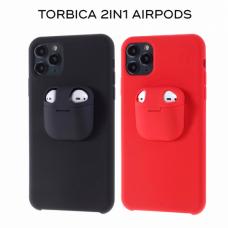 Futrola 2in1 airpods za iPhone 11 6.1 crna