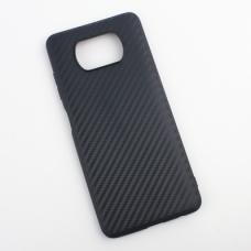 Futrola Carbon fiber za Xiaomi Poco X3 NFC crna