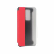 Futrola Clear View za Huawei P40 Pro crvena