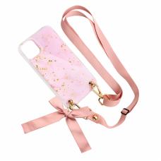 Futrola Fashion Strap Glitter za iPhone 11 6.1 roze