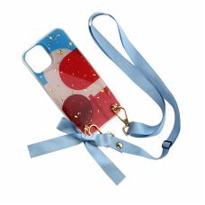 Futrola Fashion Strap Glitter za iPhone 12 Mini 5.4 plava
