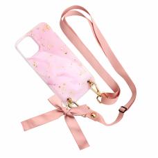 Futrola Fashion Strap Glitter za iPhone 12 Mini 5.4 roze