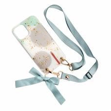 Futrola Fashion Strap Glitter za iPhone 12 Mini 5.4 svetlo zelena