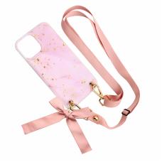 Futrola Fashion Strap Glitter za iPhone 12 Pro Max 6.7 roze