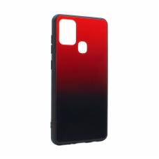 Futrola Glass Mirror za Samsung A217F Galaxy A21s crvena