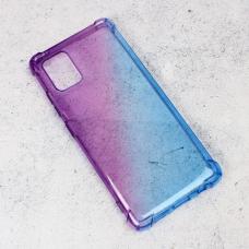 Futrola Ice Cube Color za Samsung A515F Galaxy A51 ljubicasto plava