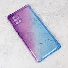 Futrola Ice Cube Color za Samsung A715F Galaxy A71 ljubicasto plava