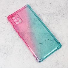 Futrola Ice Cube Color za Samsung A715F Galaxy A71 plavo roze