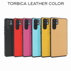 Futrola Leather color za Huawei P30 Lite crvena