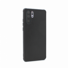 Futrola Leather color za Huawei P30 Pro crna