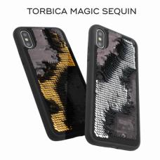 Futrola Magic Sequin za iPhone X/XS srebrna