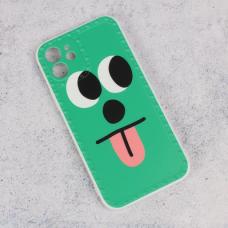 Futrola Smile face za iPhone 12 6.1 zelena