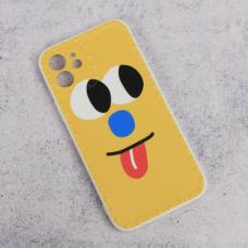Futrola Smile face za iPhone 12 6.1 zuta