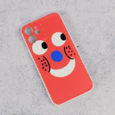 Futrola Smile face za iPhone 12 Mini 5.4 crvena