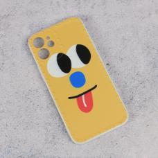 Futrola Smile face za iPhone 12 Mini 5.4 zuta