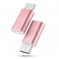 Adapter micro USB na type C roze