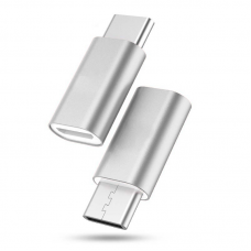 Adapter micro USB na type C srebrni