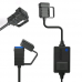 Adapter /Punjac 2.4A vodootporni za motor 3m crni