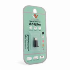 Adapter Micro USB na iPhone crni sa gumom