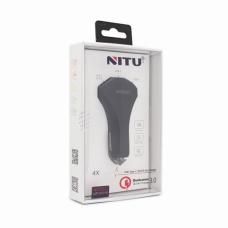 Auto punjac Nitu NT-CC15 QC 3.0 dual USB 5V 3A crni