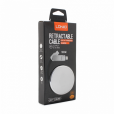Data kabl LDNIO LC90 za iPhone 5/iPhone 6/6S/micro USB srebrni 1m