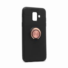 Futrola Becation za Samsung A600F Galaxy A6 2018 crna + roze holder/auto stalak