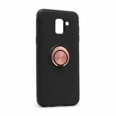 Futrola Becation za Samsung J600F Galaxy J6 2018 (EU) crna + roze holder/auto stalak