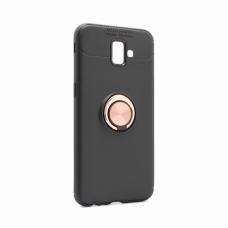 Futrola Becation za Samsung J610FN Galaxy J6 2018 Plus crna + roze holder/auto stalak