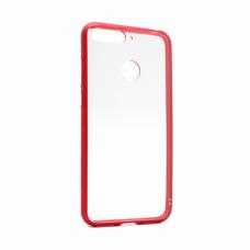 Futrola Clear Cover za Huawei Y6 Prime 2018 crvena