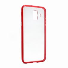 Futrola Clear Cover za Samsung A600F Galaxy A6 2018 crvena