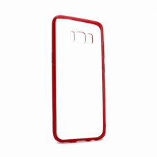 Futrola Clear Cover za Samsung G950 S8 crvena