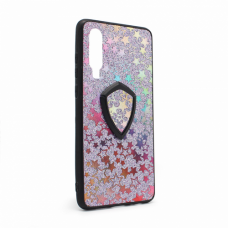 Futrola Colorful Star za Huawei P30 + holder ljubicasta