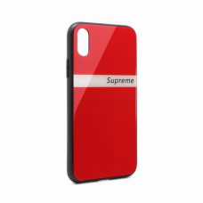Futrola GLASS Supreme za iPhone X crvena