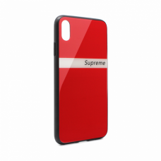 Futrola GLASS Supreme za iPhone XS Max crvena