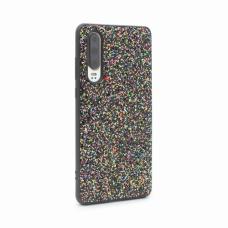 Futrola Glitter za Huawei P30 crna
